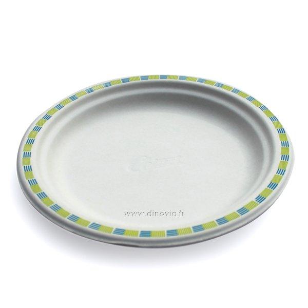 Assiette jetable en fibre Chinet