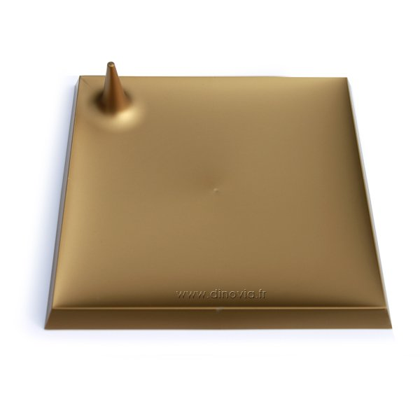 Assiette carrée bronze lux by starck