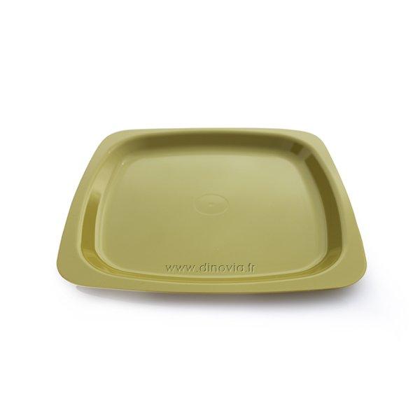 Assiette carrée DISCO Verte