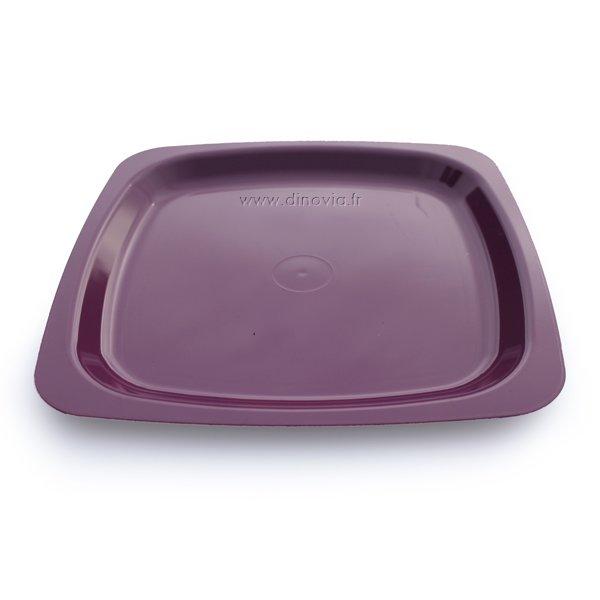 Assiette carrée violette grande