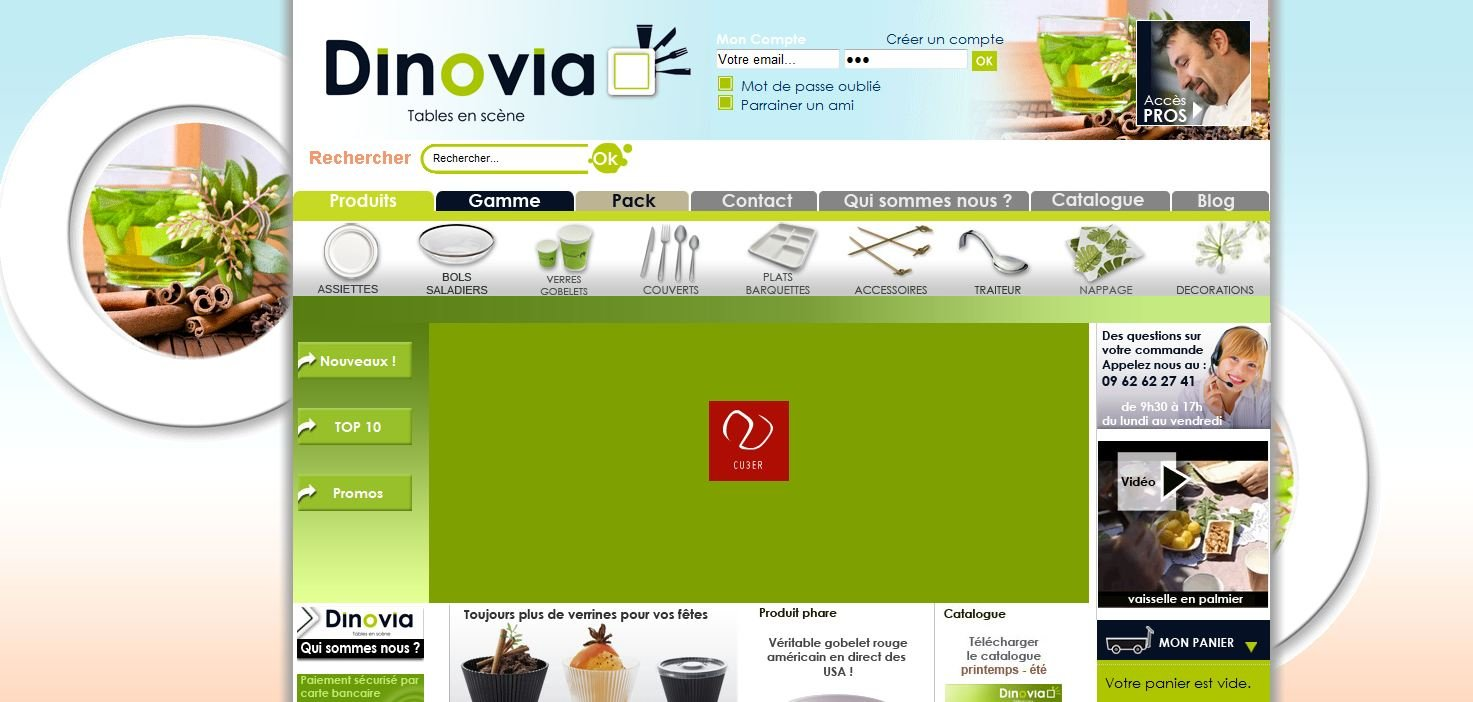 Nouveau design pour le site de vaisselle jetable, assiette jetable, vaisselle ecologique et biodégradable, vaisselle starck