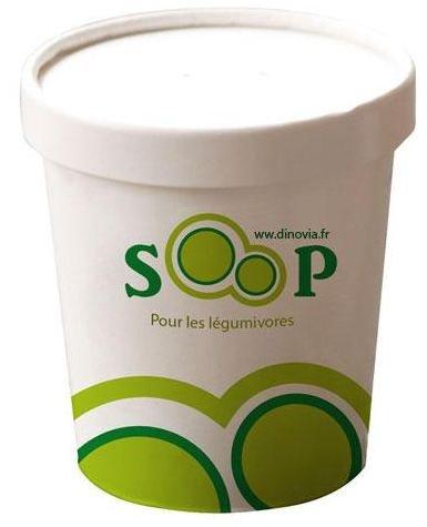 Pot à soupe à emporter imprimé et personnalisé avec logo